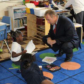 Senator Joe Robach visits Discovery Charter School