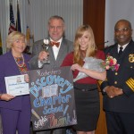 DCS trustees Grace Tillinghast and Daniel Aureli with Ms. Di Caro and RPD Chief at the Do the Right Thing Award